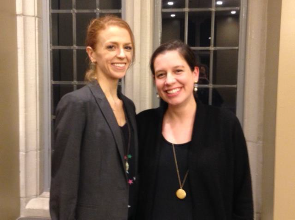 Dr. Lindsey Larre and Dr. Grace Hamman, Visiting CMRS Postdoctoral Scholars and organizers of the symposium.